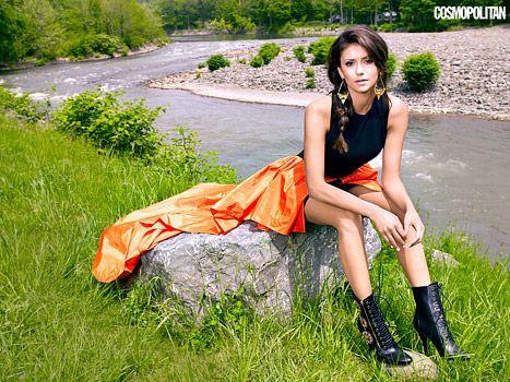Nina Dobrev poses for Cosmopolitan magazine