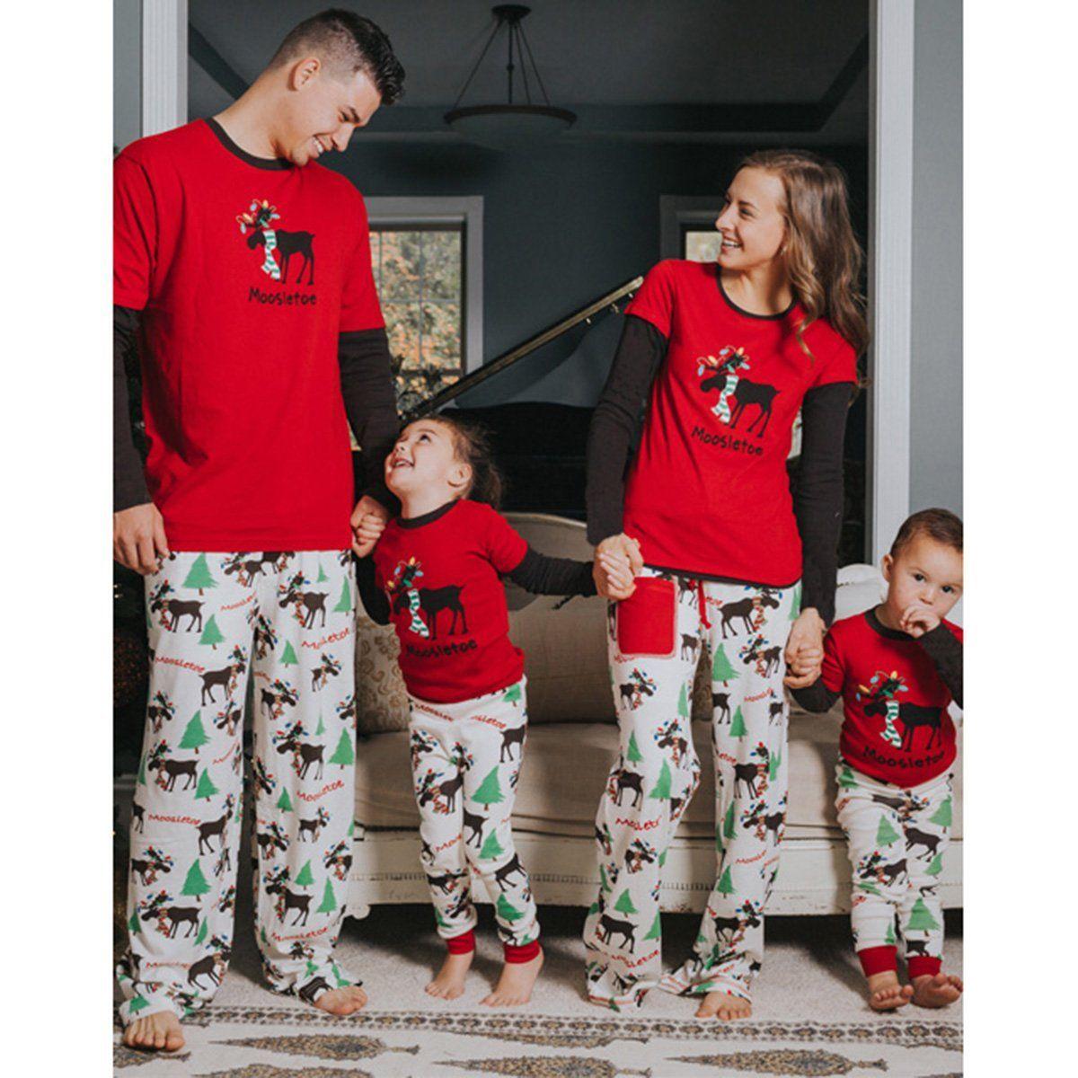 3b0cad115b  7.89 - Family Matching Christmas Pajamas Set Men s Women Kids Deer  Sleepwear Nightwear  ebay  Fashion