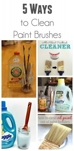 5 Ways To Clean Paint Brushes