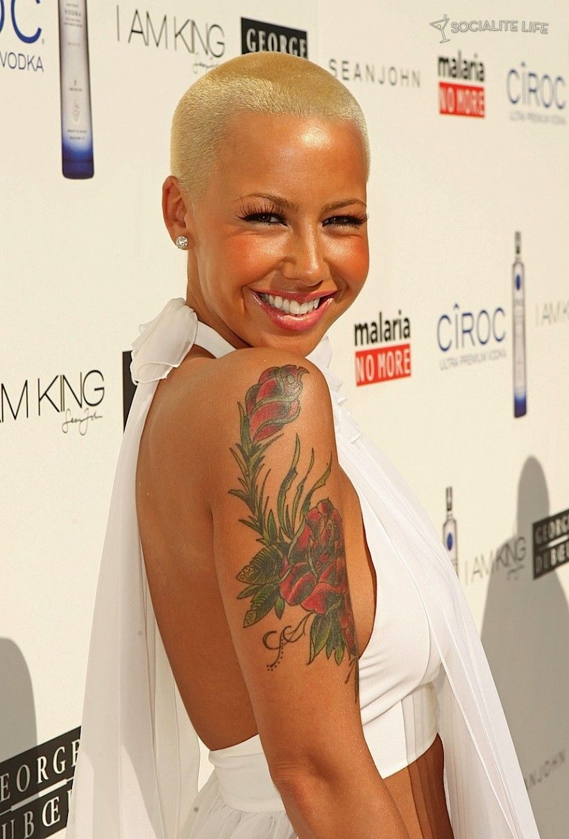 Natural hairstyles for short hair black women hair and tattoos - Amber Rose Women With Short Hair Sexy Hairstylesnatural