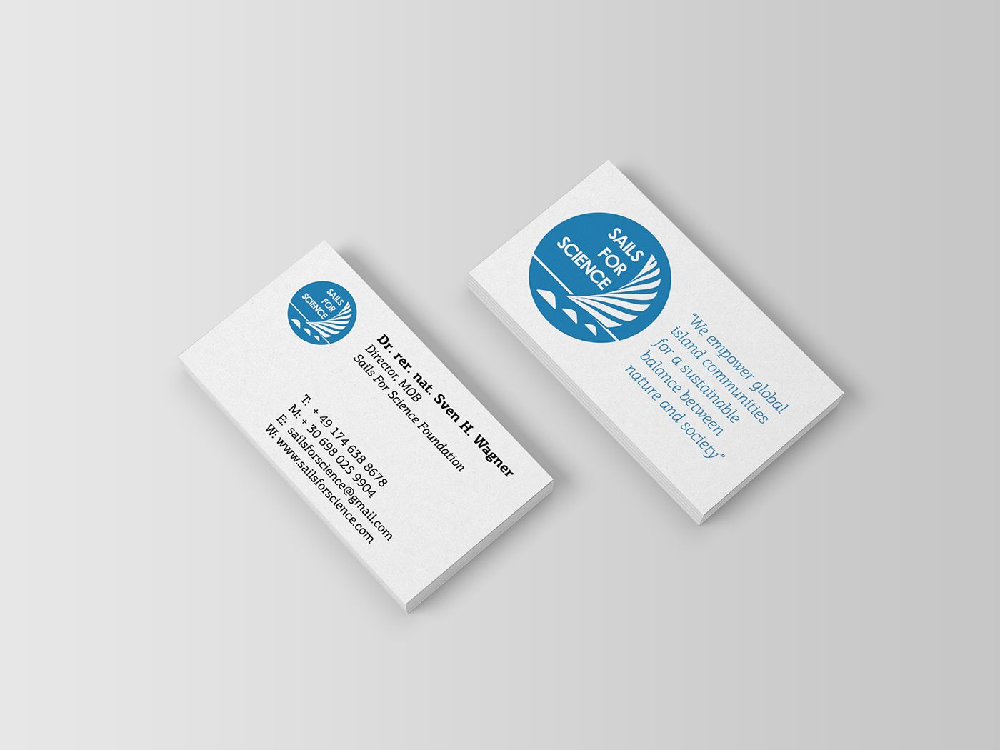 Business Card Director Of Sails For Science Foundation Ngo Business Cards Name Cards Cards