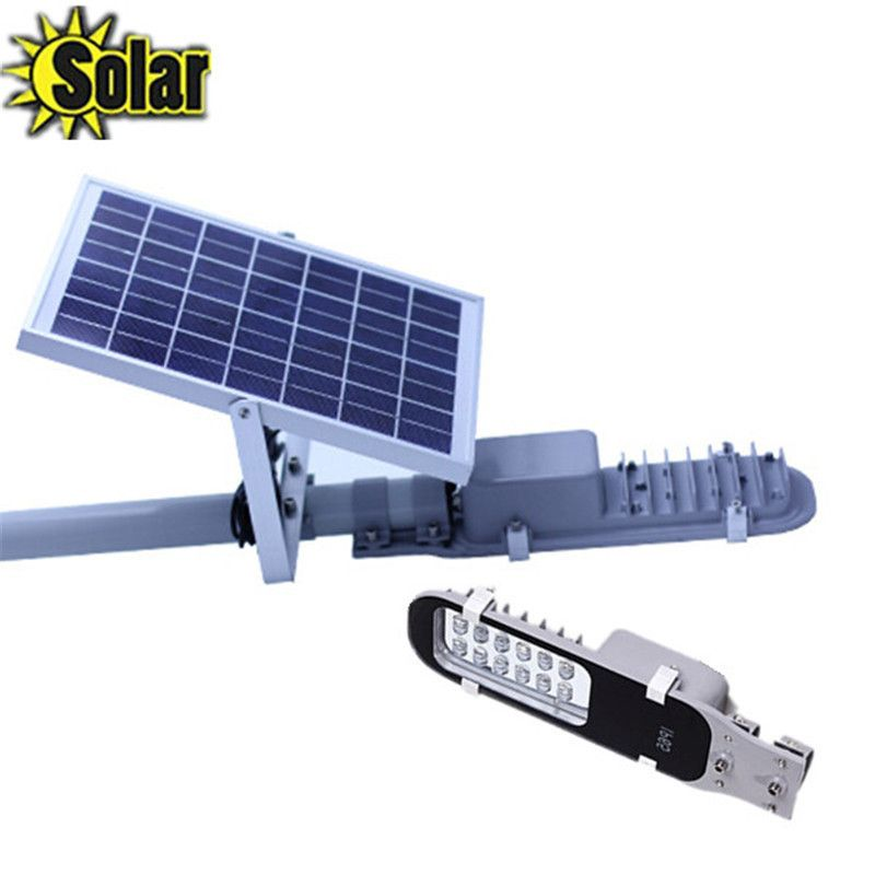 Check Price 6w Led Solar Street Light 10w 6v Panel Licable Outdoor Lighting For Garden Whole Panels
