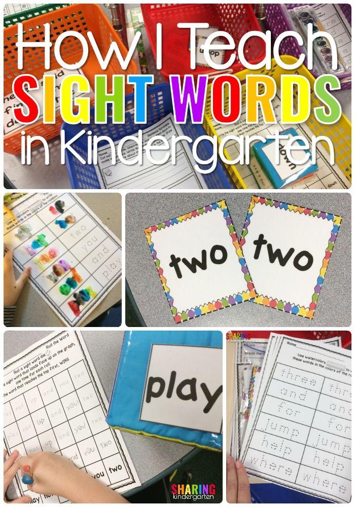 How I Teach Sight Words in Kindergarten | Kind