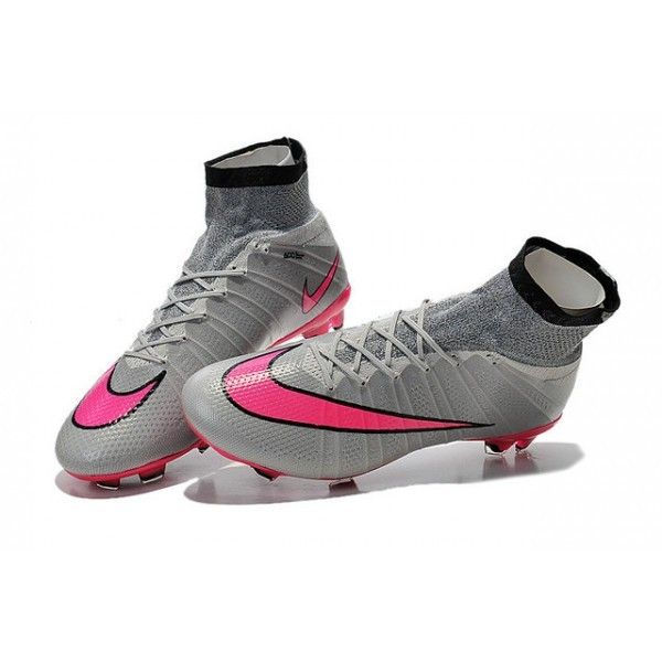 Nike Mercurial Superfly FG Mens Boots  Grey Pink Black