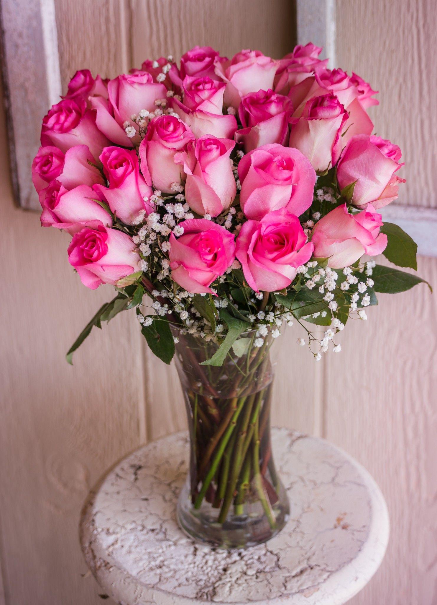 Two Dozen Sweet Roses Flowersd Designs Pinterest