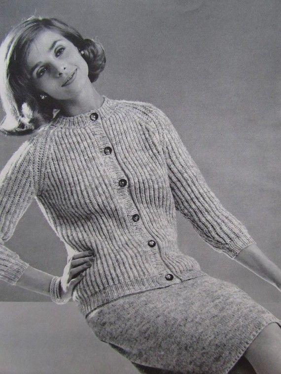 1960\'s Knitting Patterns Vintage Pattern PDF by vintageknitcrochet ...