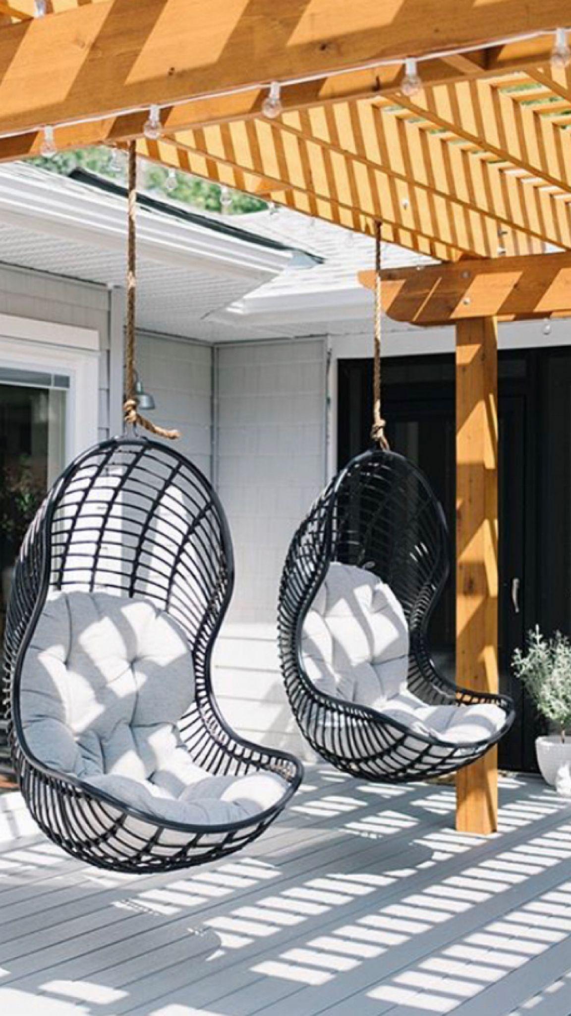 Hanging Patio Chair Cushion In 2020 Patio Swing Chair Outdoor Patio Swing Hanging Swing Chair Outdoor