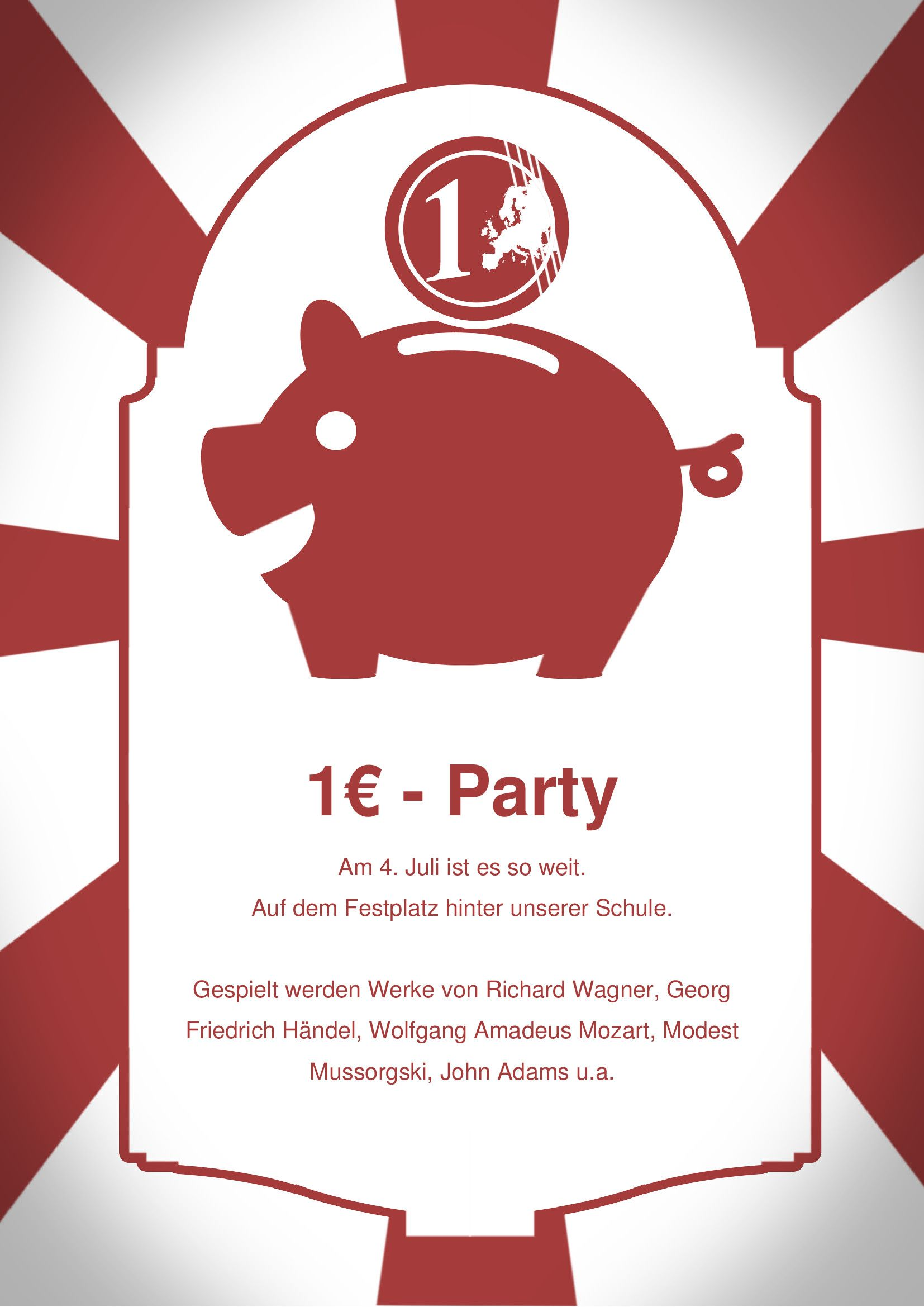 Ein Euro Party By Chris On 365layouts Flyer Party Place Card Holders