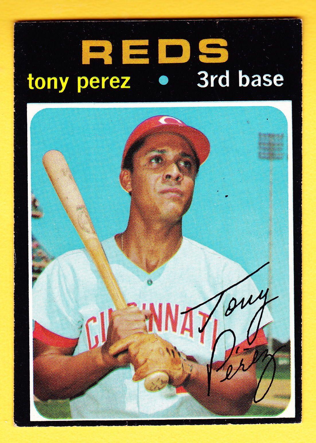 1971 topps 580 tony perez reds cincinnati reds baseball