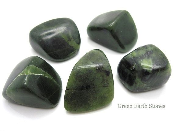 One Premium Nephrite Jade Tumbled Stone, Crystal Healing, Feng Shui, Pocket Stones, Crystal Grid, Metaphysical