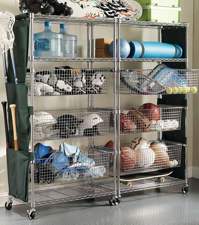 Keep The Entire Family S Sports Gear And Camping Supplieore Organized At Ready In Shelves Baskets