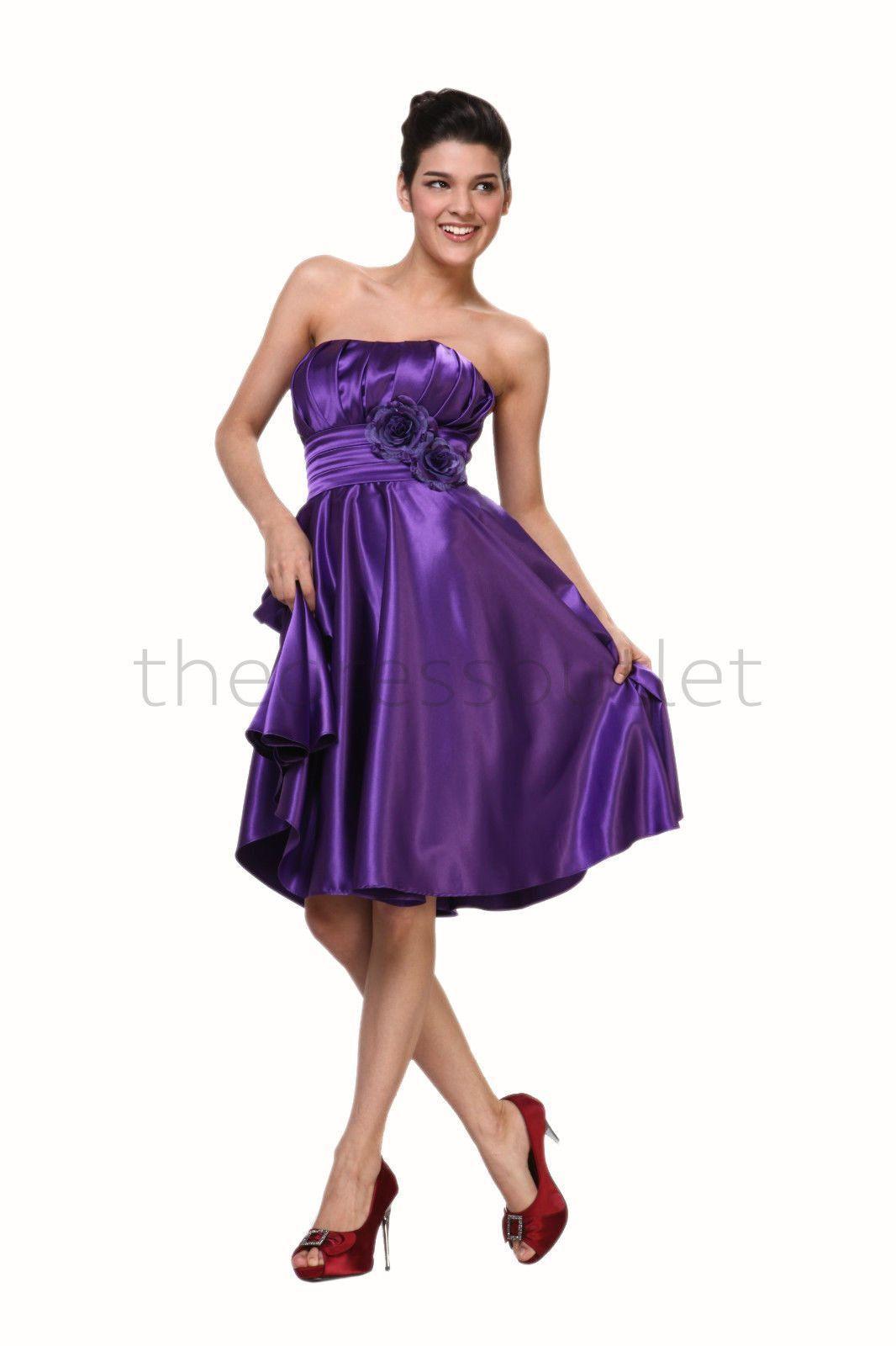Formal Short Prom Bridesmaids Dresses Plus Size Cocktail | Quick ...