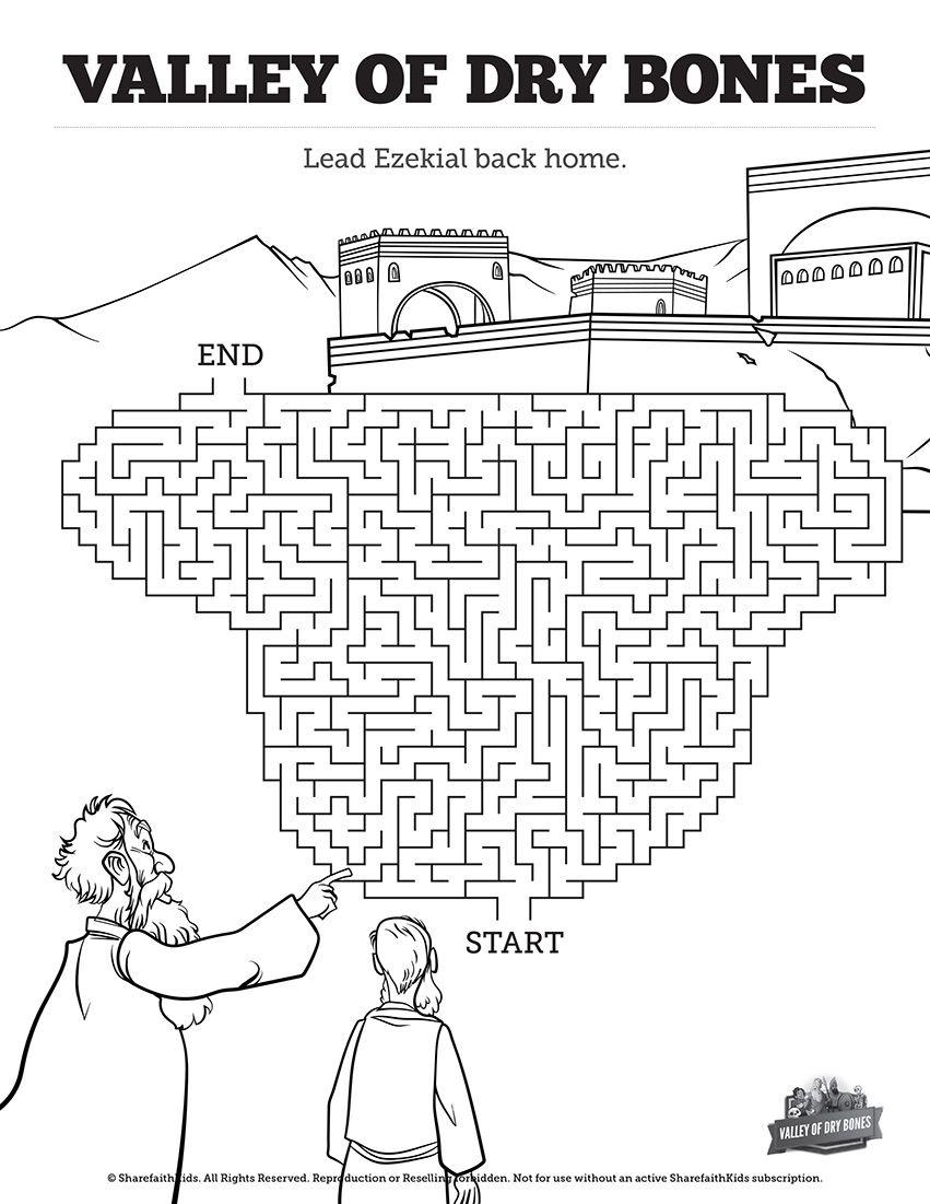 Ezekiel 37 Valley Of Dry Bones Bible Mazes Featuring