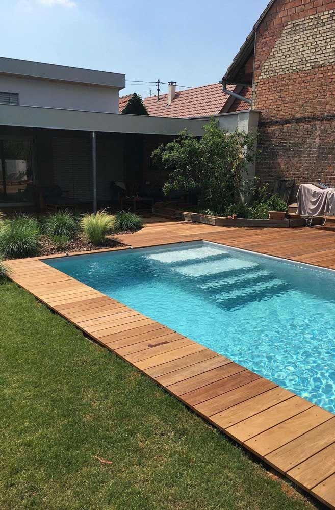 I quite like this brilliant rectangular pool #rectangularpool #poolimgartenideen