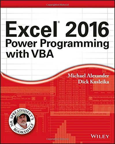 Excel 2016 Power Programming with VBA (Mr Spreadsheet\u0027s Bookshelf