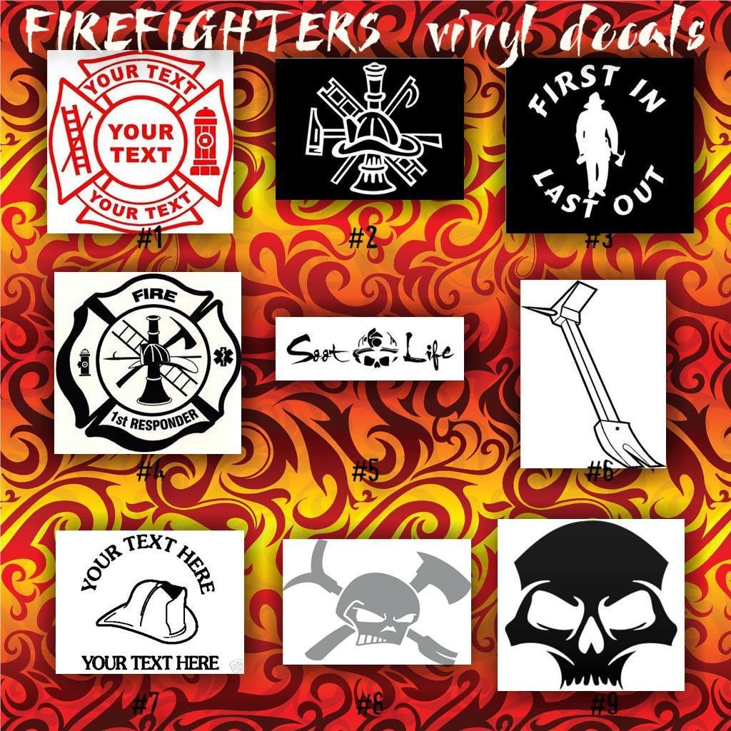FIREFIGHTING Vinyl Decals Firefighter Sticker Car Decal - Custom vinyl decals car windows