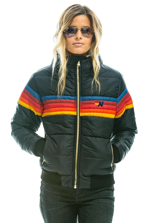 Women S Trekker 3 Hooded Puffer Jacket Black Aviator Nation Puffer Jacket Black Jackets Puffer Jackets [ 1500 x 1000 Pixel ]