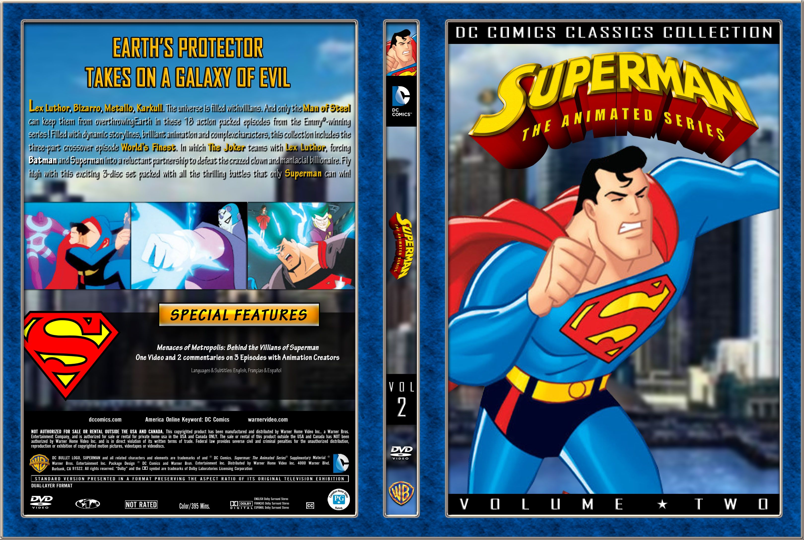 Superman: The Animated Series Volume 2, Custom DVD Cover I did in PhotoShop.