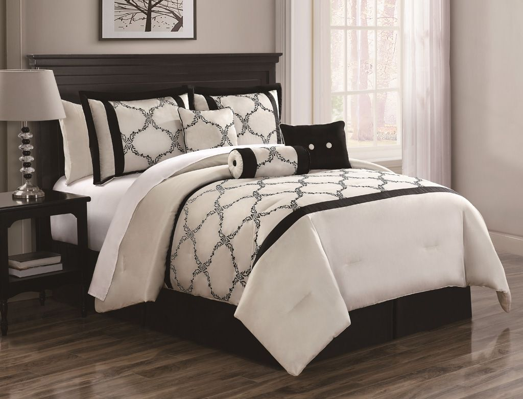 in oversized solid sets reversible bedding ivory emboss dsc striped set and overfilled comforter looks