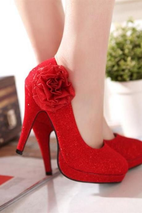 Black Shoes Red Heels
