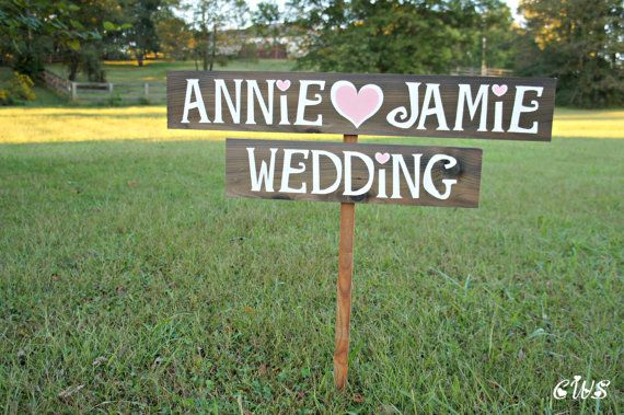 Wedding name sign country wedding decor personalized signage wedding name sign country wedding decor personalized signage wedding decoration rustic wood sign hand painted wooden signs road signs junglespirit Gallery