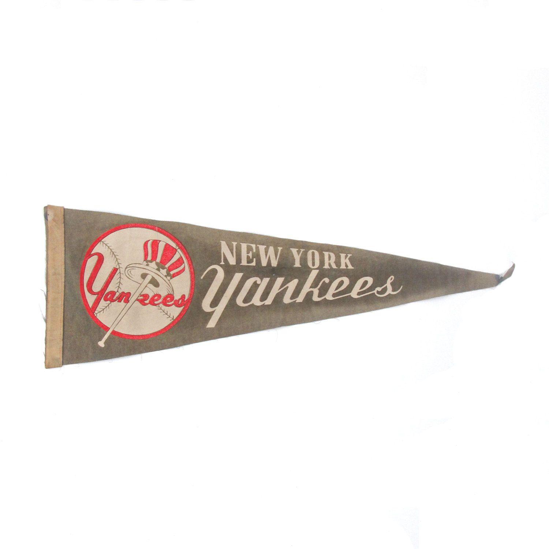 Rare 1960s Vintage New York Yankees Baseball Pennant New York Yankees Baseball Baseball Pennants Vintage New York