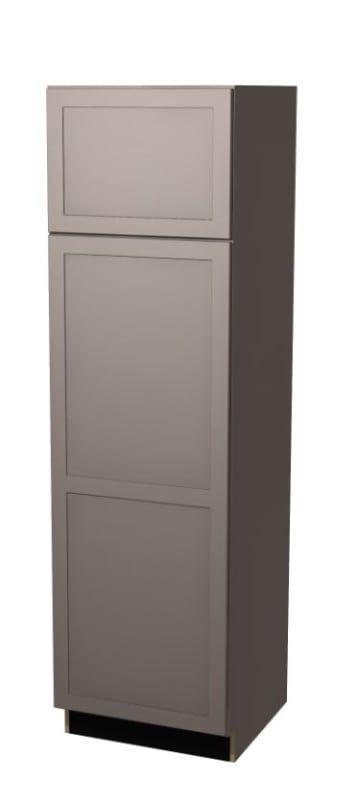 Build Essentials Prt Mp S All C U248424r 24 Inch Wide Shaker Door Left Hinge Ta Gray Paint Kitchen Cabinets Tall Pantry Cabinets 24 Inch Tall Pantry Cabinet Shaker Doors Grey Painted Kitchen