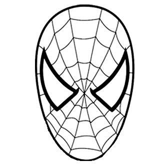 Homem aranha riscos 2 pinterest spiderman Coloring Pages of Spider-Man Standing Spider-Man Mask Template Deadpool Face Coloring Pages