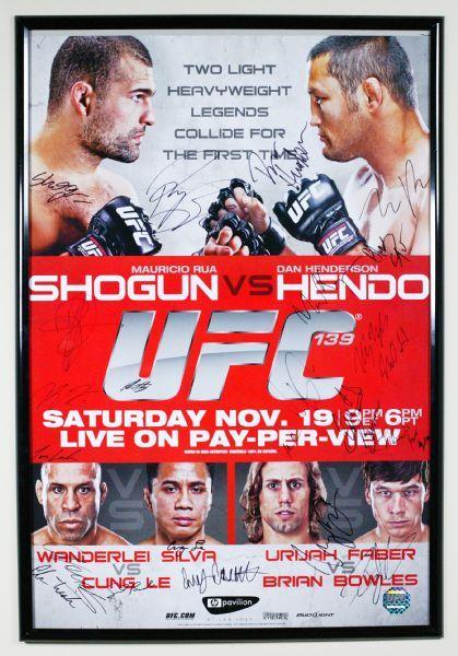 Lot Detail Ufc 139 Shogun Rua Vs Dan Henderson Autographed Fight Night Poster D 92 125 Ufc Faber Dan Henderson