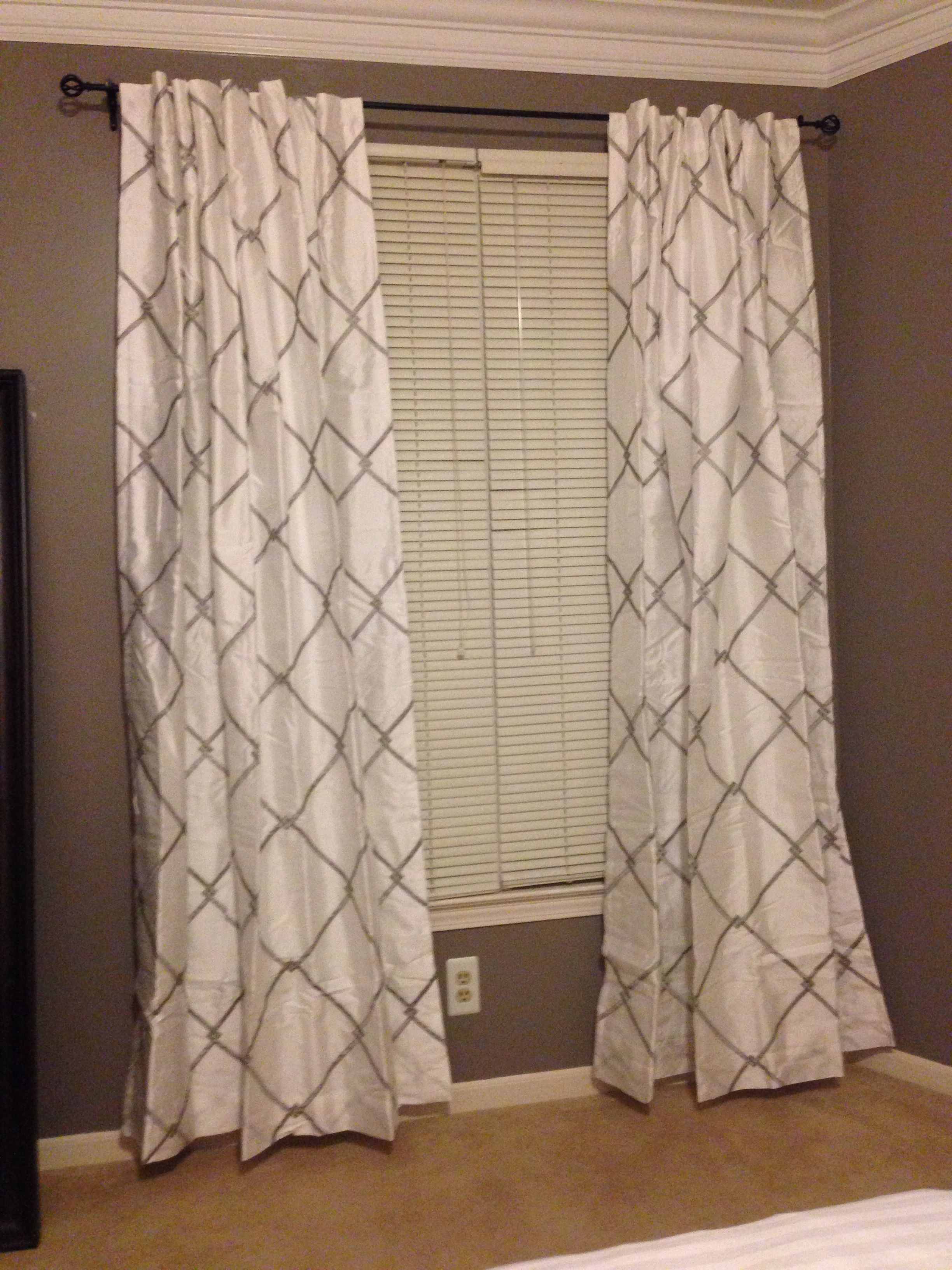 New curtains Bombay Garrison from bed bath and beyond in white