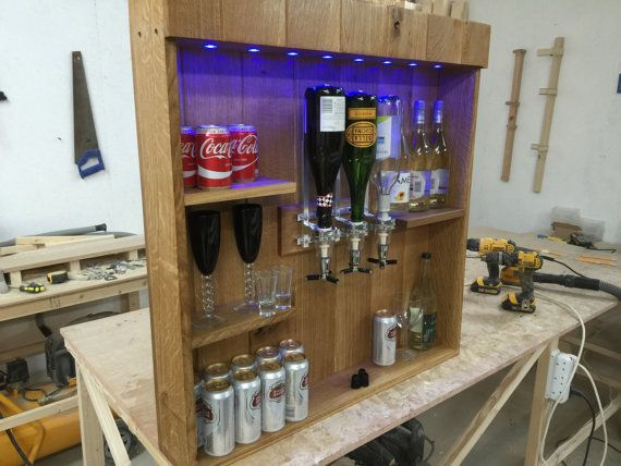 Solid Optic Back Bar Micro Pub Man Cave Summer House Patio Bar