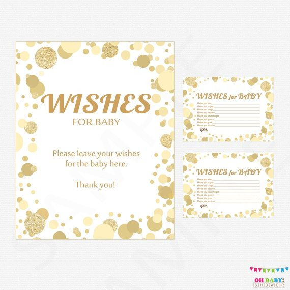 gold baby shower wishes for baby card sign wishes for baby printable baby shower wish cards boy