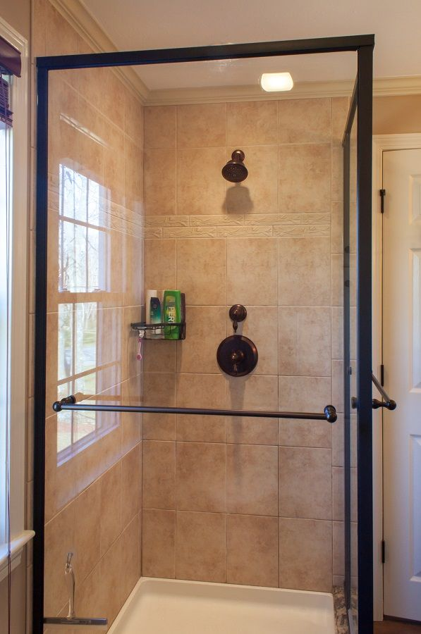 Shower Ideas Tile Shower With Oil Rubbed Bronze Fixtures And