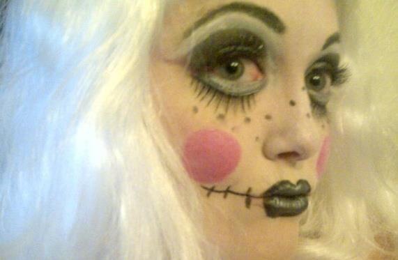 halloween voodoo doll makeup | halloween | Pinterest