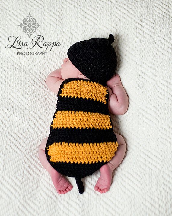 4d0f95c92 Newborn Bumble Bee Photo Prop Set | Crochet Away | Crochet baby, Bee ...