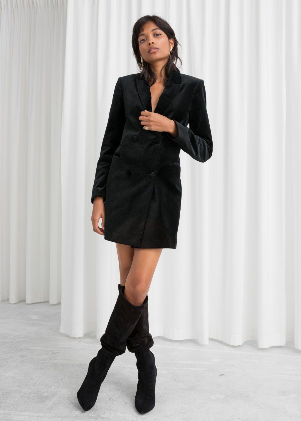 Velvet Blazer Dress Blazer Dress Velvet Blazer High Fashion Street Style [ 1435 x 1025 Pixel ]