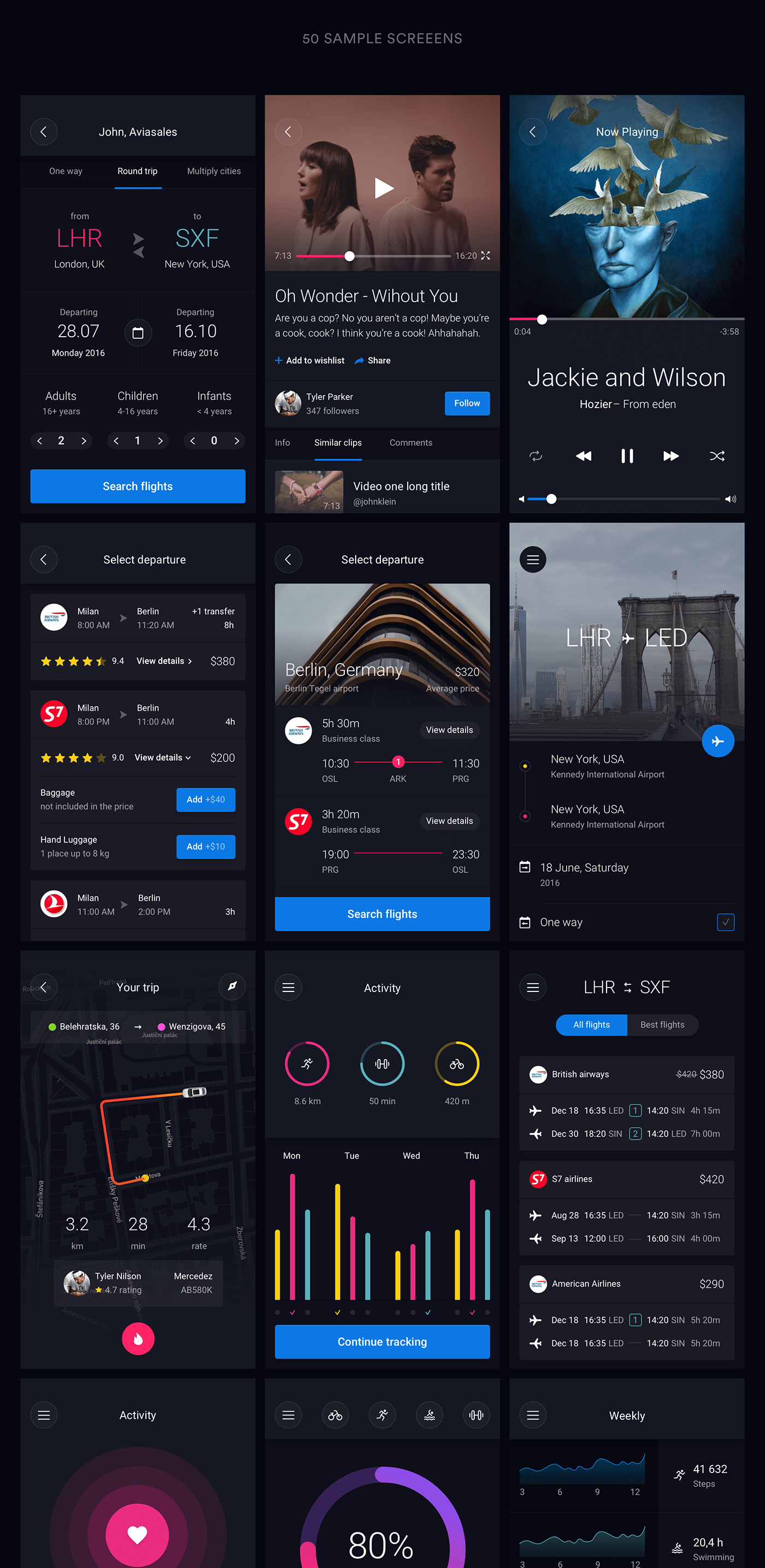Huge set of pre-made UI elements that can help you with app design in Sketch and Photoshop. UI Elements / Combined blocks / Style…