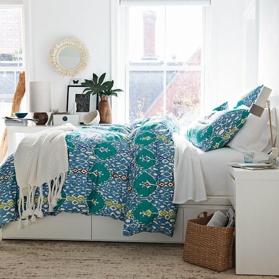 Bright Bedding Good For Hiding Baby Spit Up Home Decor