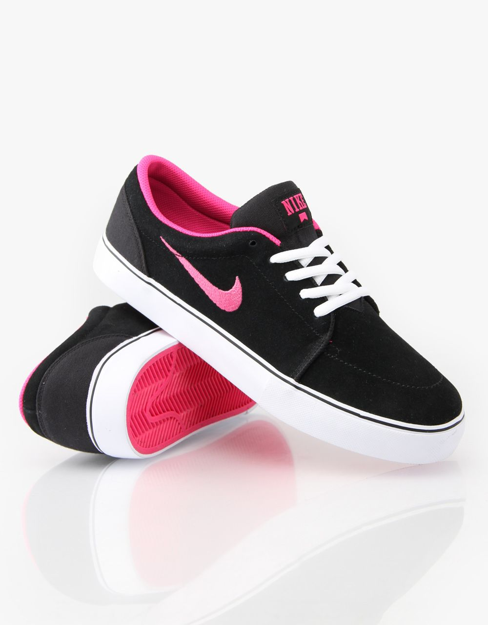 Wishlist - Nike SB Satire Skate Shoes (In Black, White, and Pink)