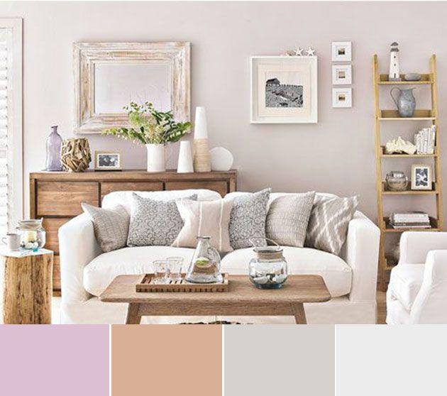 40 combinaciones de colores para pintar un salón   Combinación de ...