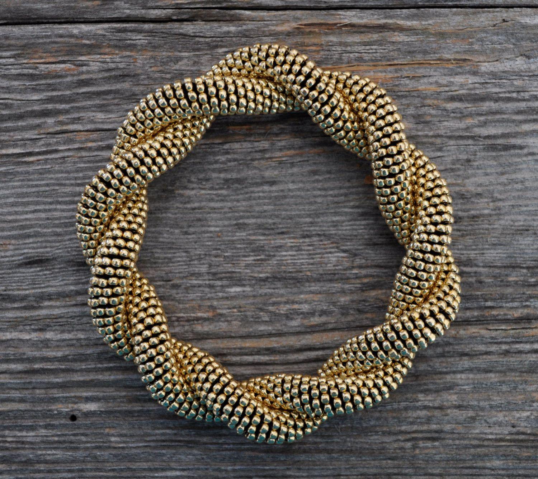 Bead crochet jewelry by KittyBangles on Etsy https://www.etsy.com/listing/216883370/bead-crochet-jewelry