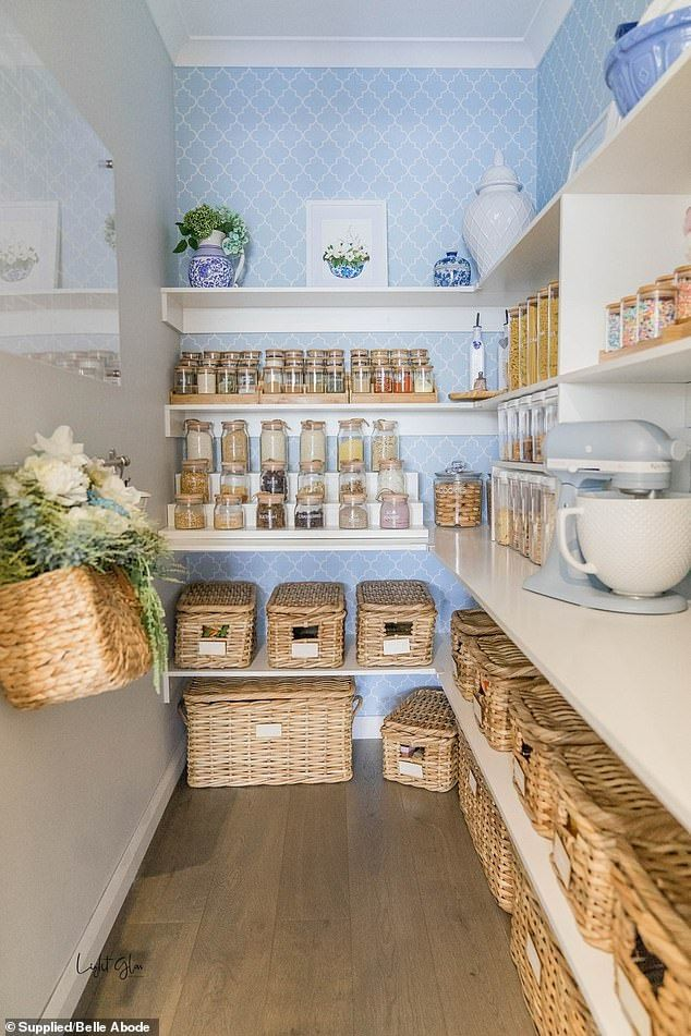 Mother transforms her pantry into a beautiful Hamptons-inspired space