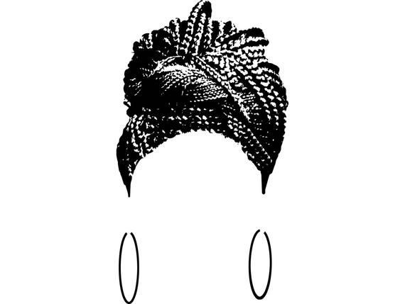Braided Hair African-American Ethnicity Hairstyle Afro WomanHair Salon Female  SVG .EPS .PNG Vector #africanamericanhair