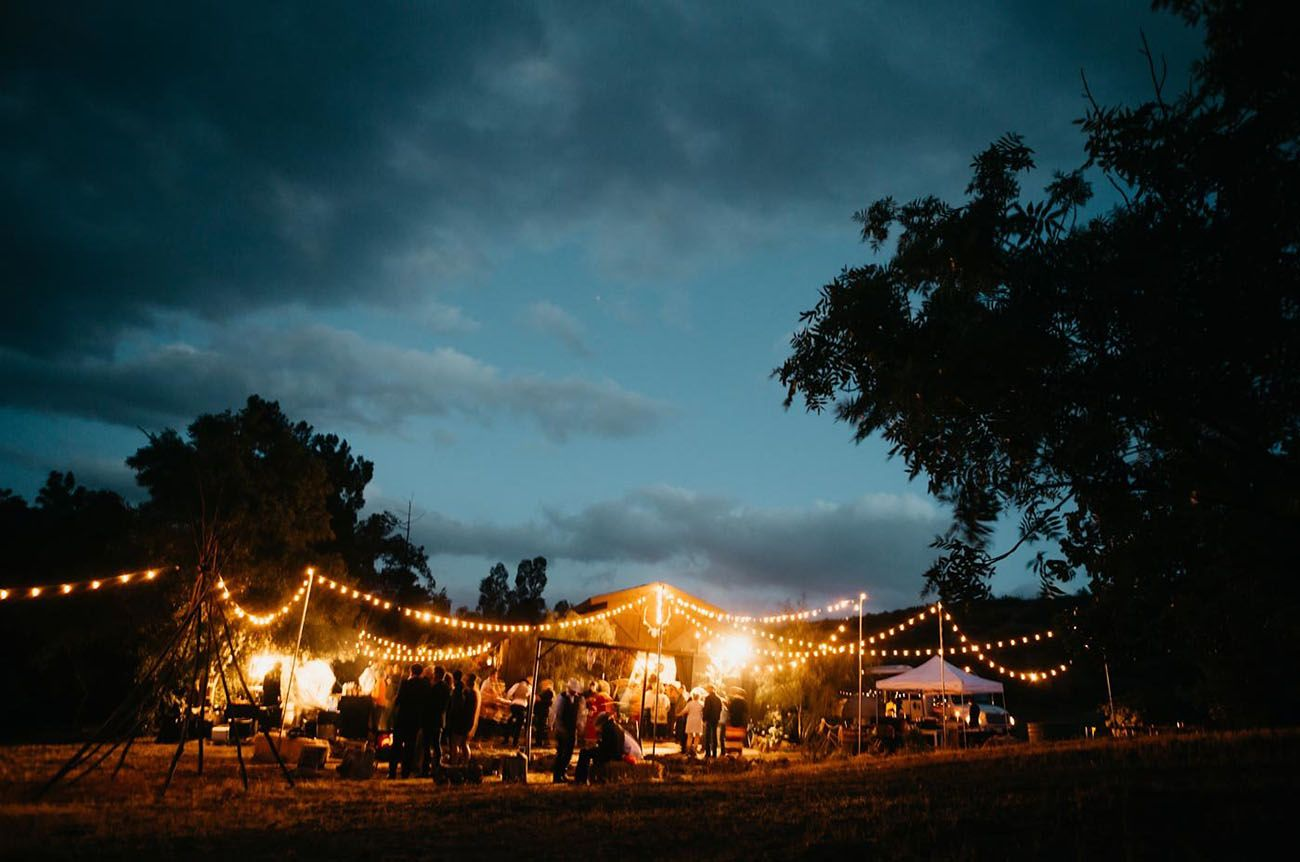 A Cozy, Rainy Farm Wedding and the Bride Wore Pink