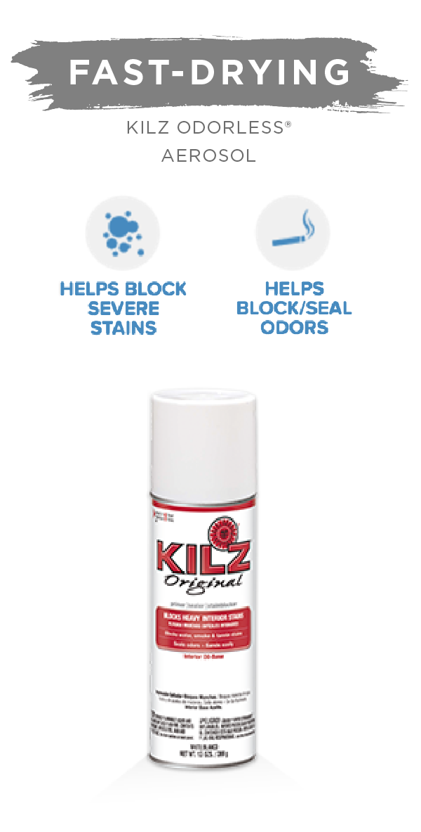 Use KILZ Original Aerosol in all your DIY home makeover projects