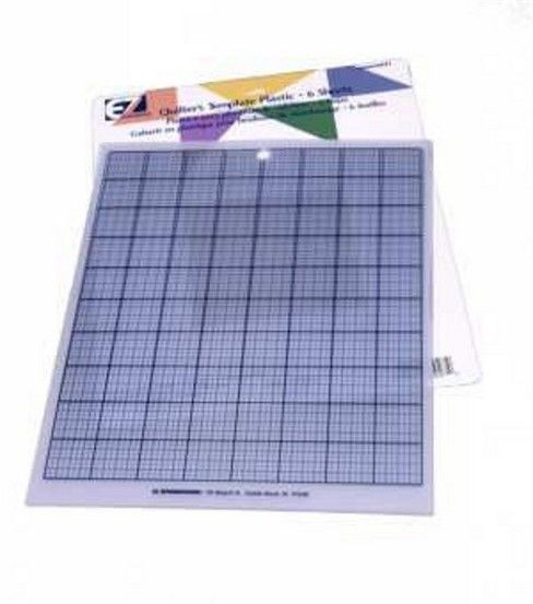 EZ Plain /& Gridded Plastic Quilting Templates Value Pack per pack of 6 ...