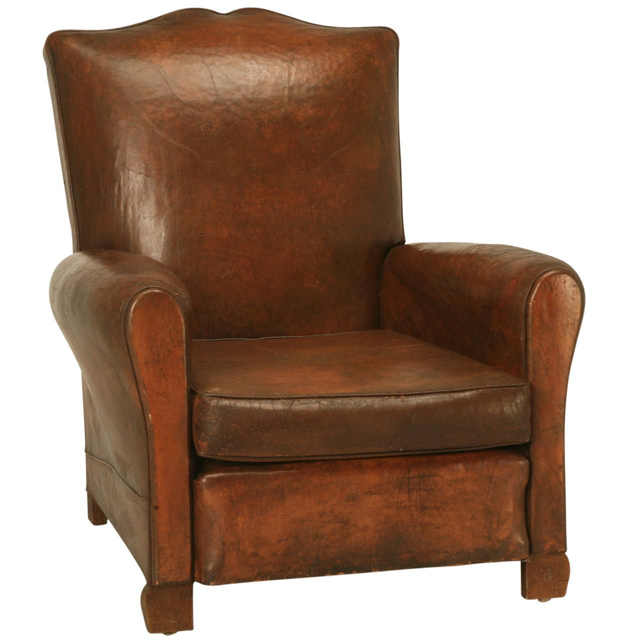 French Art Deco Leather Club Chair, circa 1930s | From a unique collection  of antique - French Art Deco Leather Club Chair, Circa 1930s From A Unique