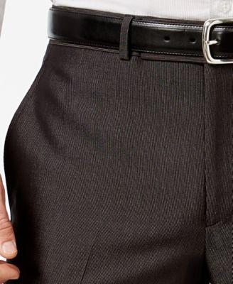 Kenneth Cole Reaction Black Micro-Stripe Slim-Fit Suit - Black 38R