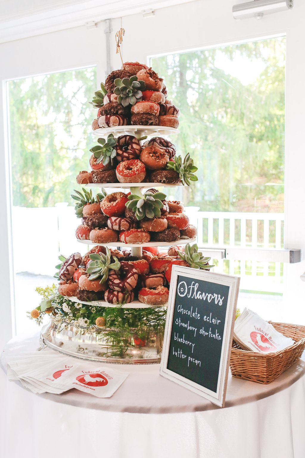 Rustic Country Club Wedding By Alison Leigh Photography Philly In Love Wedding Donuts Donut Wedding Cake Doughnut Wedding Cake