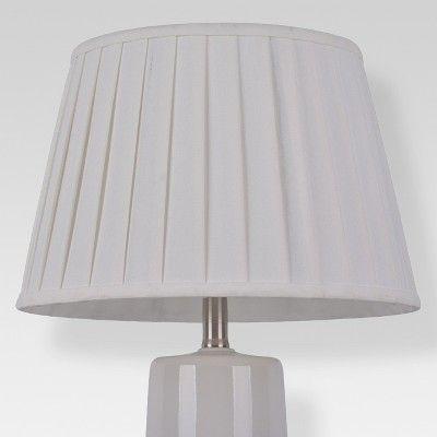 Replacement Shade Modern Pleat Linen, Harp Lamp Shade Target